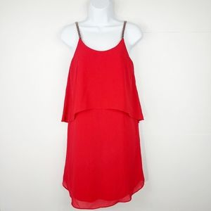NWT Francesca's Beaded Straps Red Dress